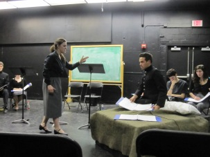 """""""April to April"""" (now titled """"Tinted Red"""") as staged reading at SUNY New Paltz- Directed by Adam Harrison"""