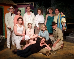 "Frau Fahrenkopf in ""The Night of the Iguana"" at Albany Civic Theater, 2015"
