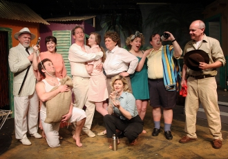 """Frau Fahrenkopf in """"The Night of the Iguana"""" at Albany Civic Theater, 2015"""