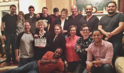 """With cast and crew of Compass Pictures Inc.'s """"The Way Forward"""" . Directed by Roman Jaquez, 2014"""