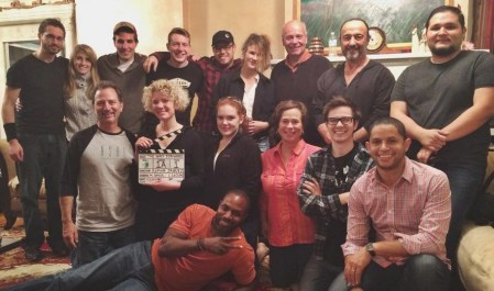 """With cast and crew of Compass Pictures Inc.'s """"The Way Forward"""" . Directed by Roman Jaquez."""