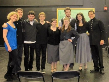"""With Cast and Director of reading of """"April to April"""" (now titled """"Tinted Red"""") at SUNY New Paltz"""