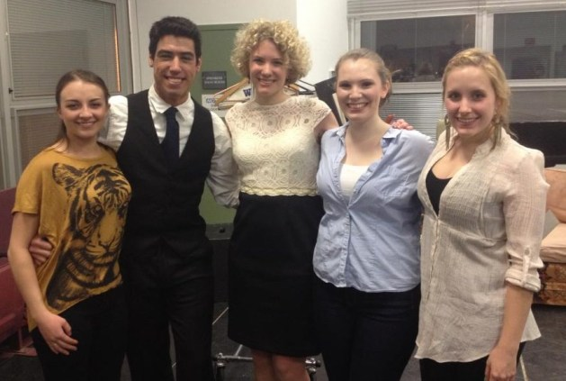 """With cast of """"Stars"""" at SUNY New Paltz"""